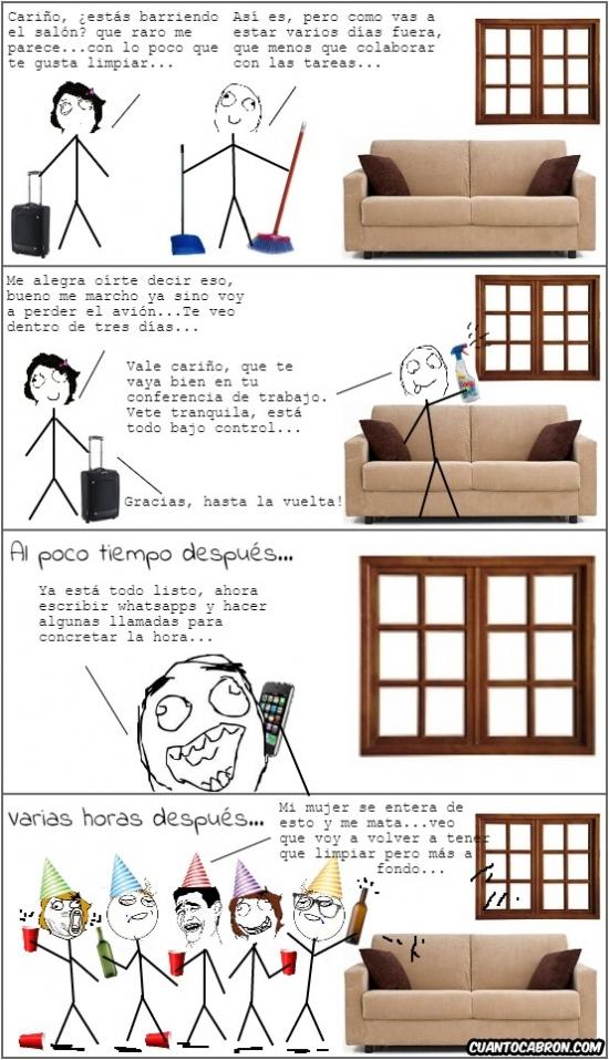 Otros - Esto es lo que pasa cuando se deja a un marido solo en casa unos días con ganas de fiesta...