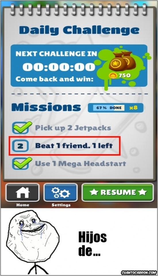 Forever_alone - Y es por esto que paso de esta clase de juegos en Facebook