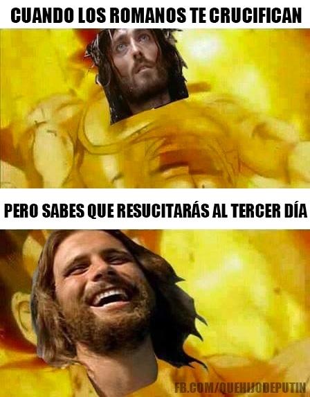 Meme_otros - Jesucristo siempre tiene un as en la manga