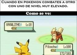 Enlace a Cuando usas un Pokémon con nivel elevado contra uno de bajo nivel