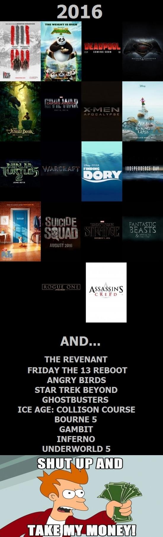 Meme_fry - ¡Se nos echa encima un gran año en el cine!