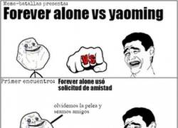 Enlace a Batalla épica: Forever alone vs Yao Ming
