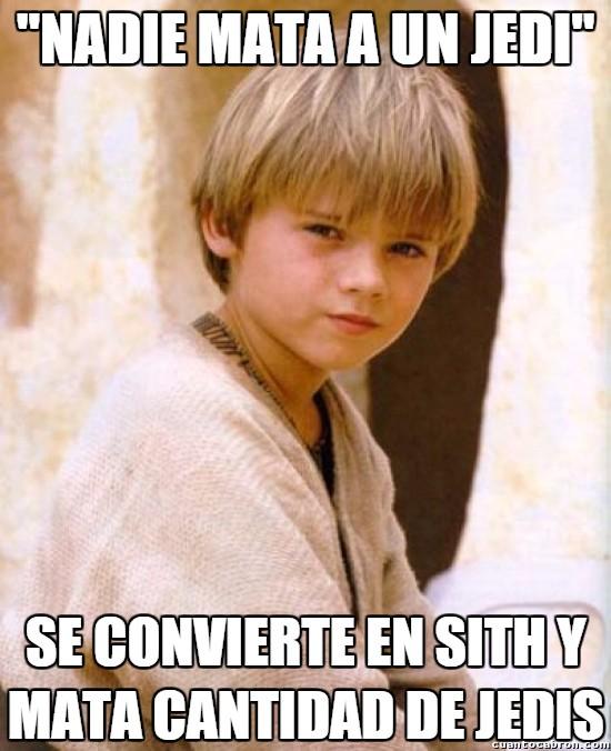 Meme_otros - Anakin solo quería ser popular