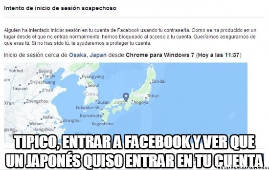 Meme_otros - Hasta los japoneses quieren hackearme la cuenta de Facebook