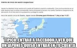 Enlace a Hasta los japoneses quieren hackearme la cuenta de Facebook