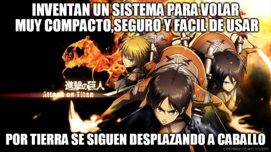 Meme_otros - Tecnología que no avanza por igual en todos los campos, nivel: Shingeki no Kyojin