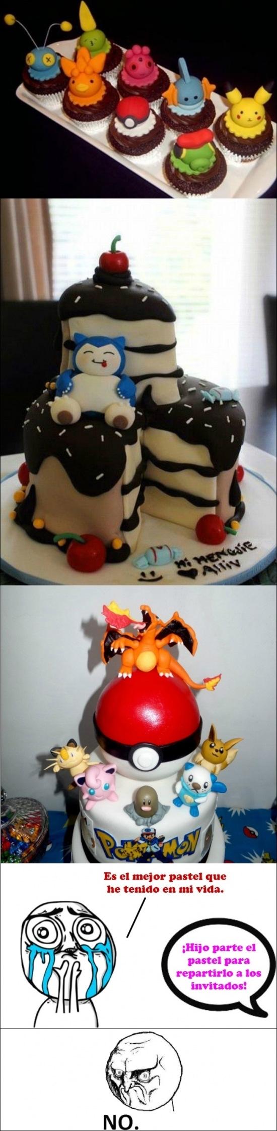 No - Cuando el pastel es tan bonito que da pena cortarlo
