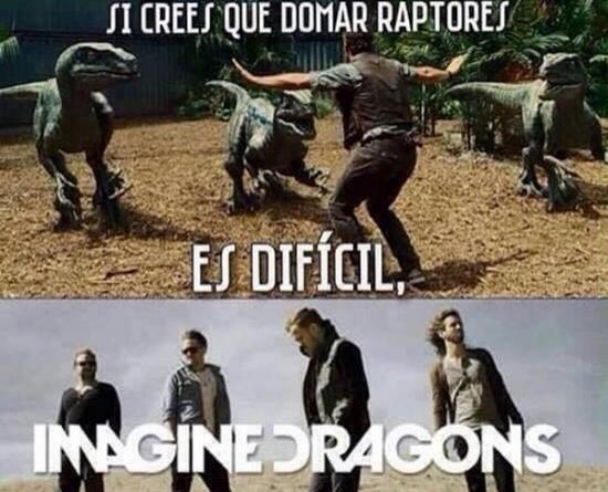 Meme_otros - ¿Crees que domar un velociraptor es difícil?