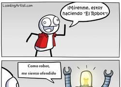 Enlace a ¡Qué insensible con los robots!
