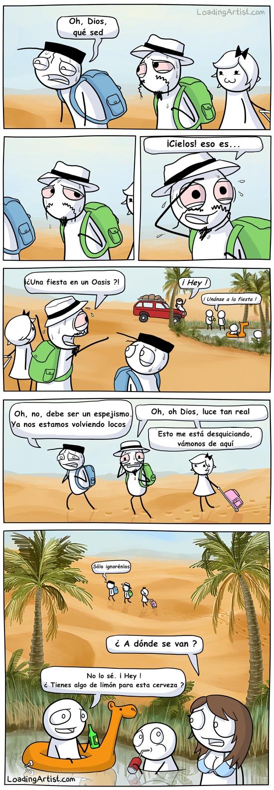 Otros - El espejismo en medio del desierto