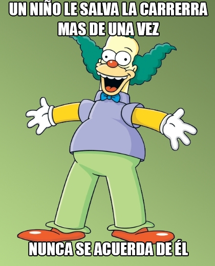 Meme_otros - Krusty es de los que olvidan rápido