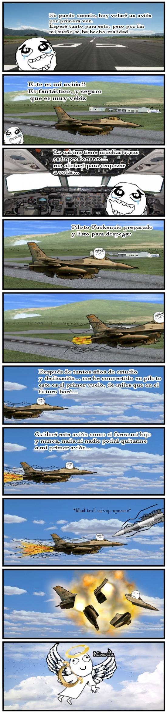 Retarded - Cuando decides ser piloto de combate, estas cosas te pueden pasar