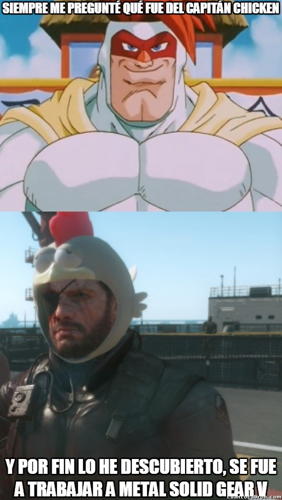 Meme_otros - ¿Alguien se acuerda del Capitán Chicken de Dragon Ball Z?