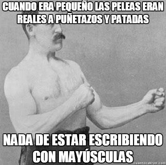 Overly_manly_man - ¿Mayúsculas?