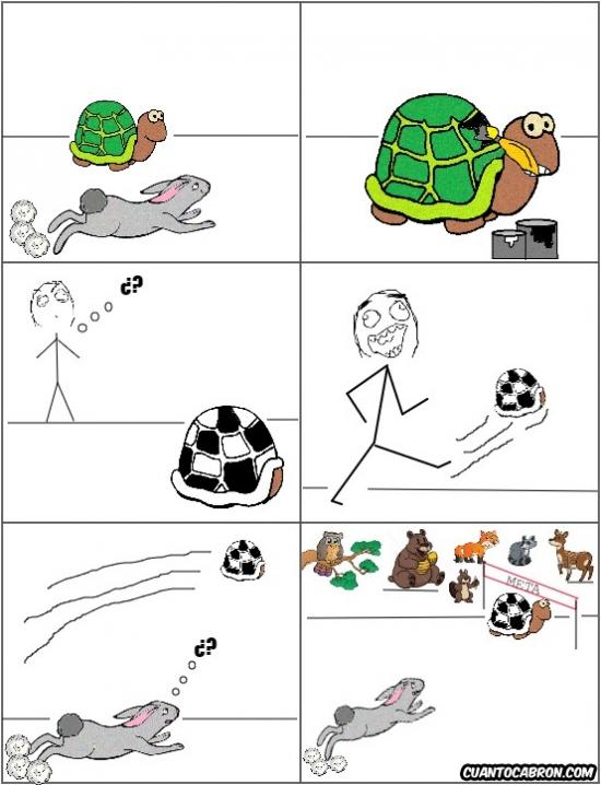Otros - Esta versión de la fábula de la liebre y la tortuga parece más creíble que la que todos conocemos
