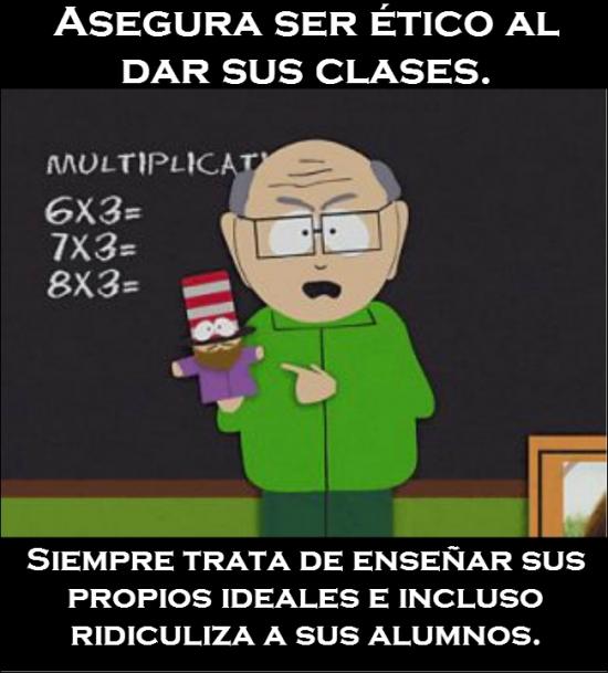 Meme_otros - En South Park saben cómo caricaturizar el mundo de la enseñanza