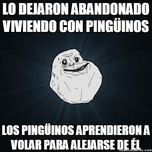 Meme_forever_alone - Buscando el amparo de los pingüinos