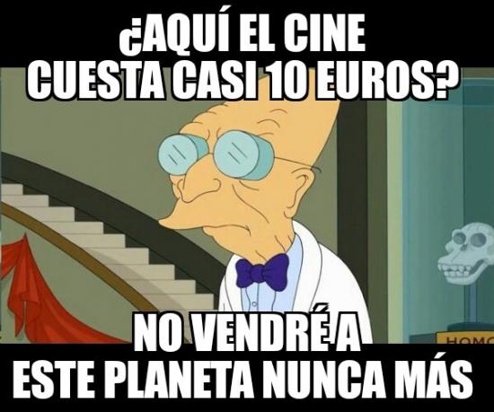 Meme_otros - Con estos precios, los cines se extinguirán antes de lo que pensamos