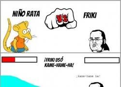 Enlace a Friki vs. Niño rata, batalla de obsesionados