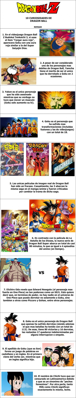 Otros - 10 curiosidades de Dragon Ball