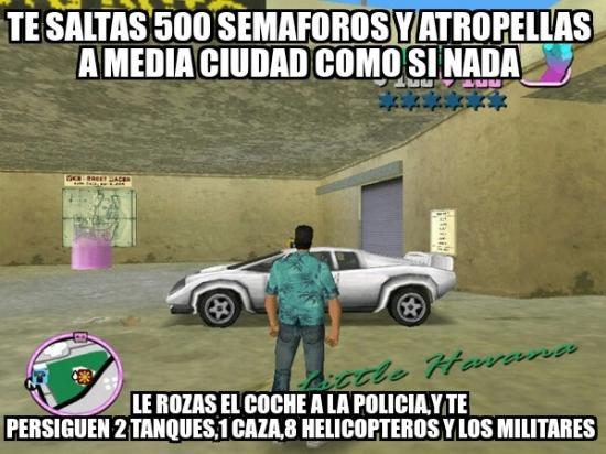 Meme_otros - La policía de los GTA no puede ser más vacilona