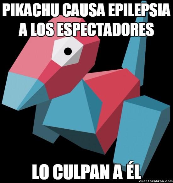 Meme_otros - Porygon, el Bad Luck Brian de los Pokémon
