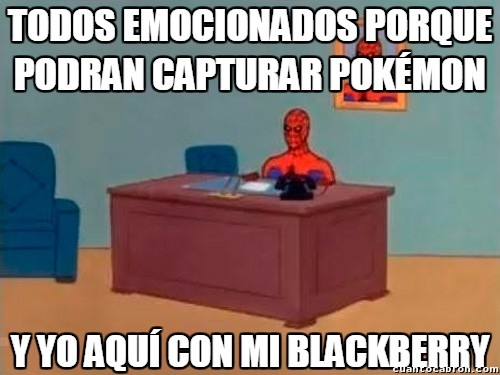 Spiderman60s - ¿Pokémon GO versión Blackberry? Poco probable...