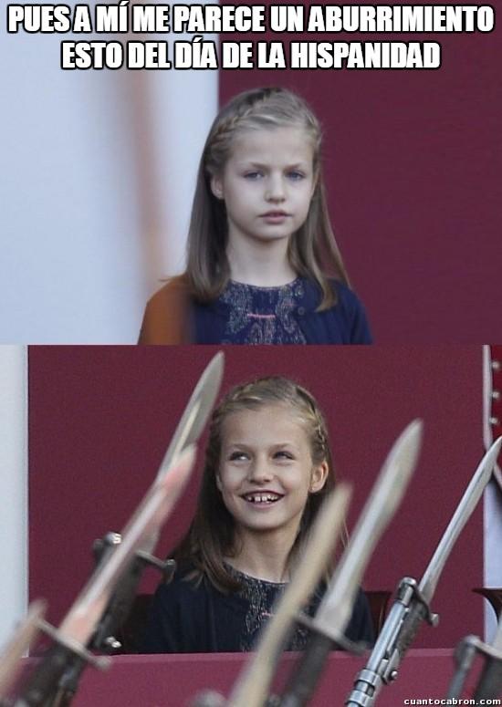 Lluvia_de_espadas - El meme ''Lluvia de espadas'', versión princesa Leonor el día de la hispanidad