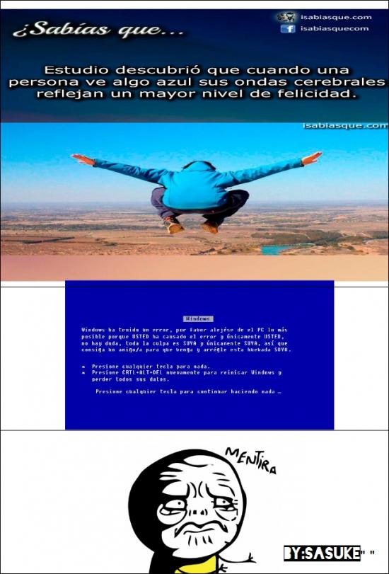 Mentira - No todo lo azul es bueno por naturaleza
