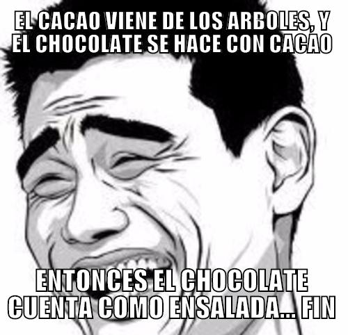 Meme_otros - El chocolate es ideal para hacer dieta