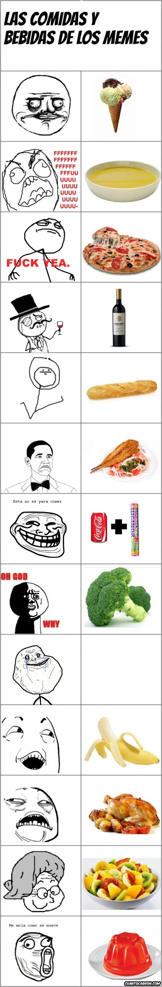 Mix - Las comidas y bebidas favoritas de los memes