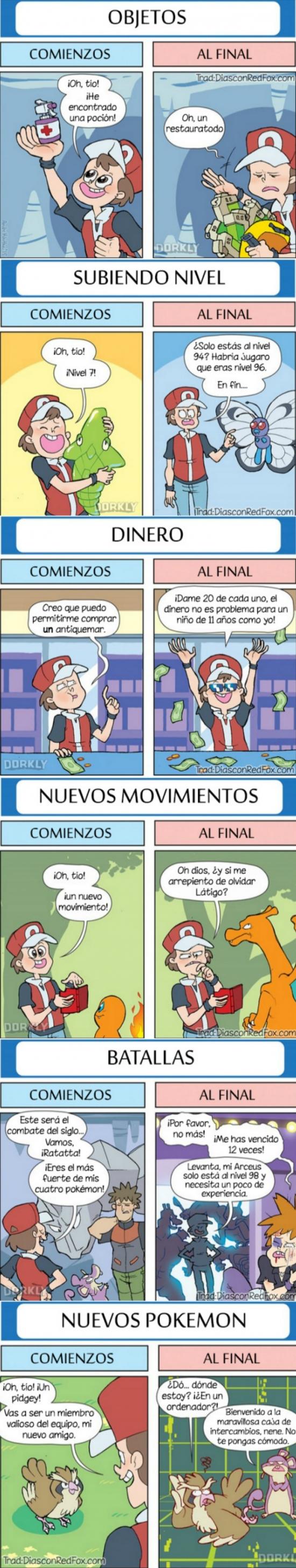 Otros - Hay una gran diferencia entre el inicio de las partidas Pokémon y el final