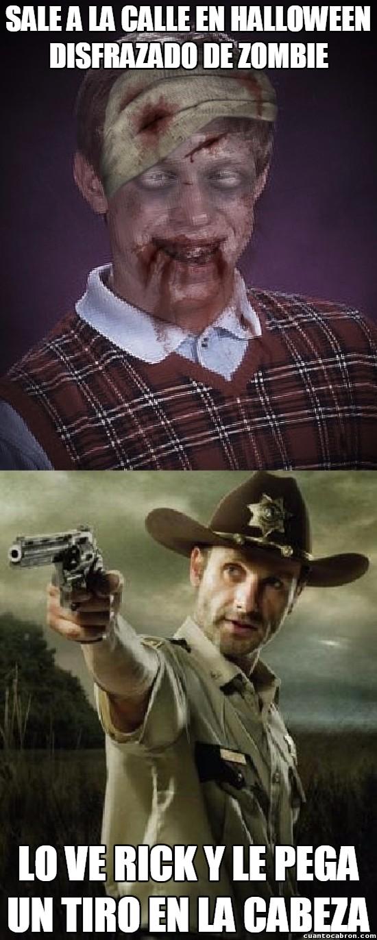 Bad_luck_brian - La obsesión de Rick por matar a cualquiera que sea o parezca zombie le pasó factura