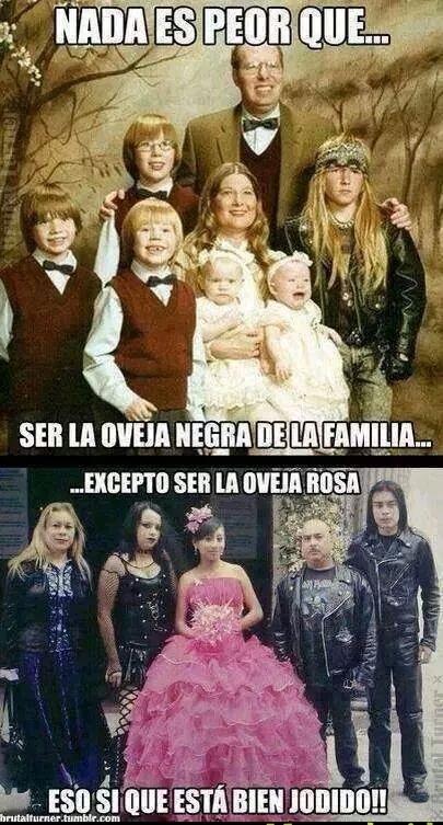 Meme_otros - Hay algo peor que ser la oveja negra de tu familia