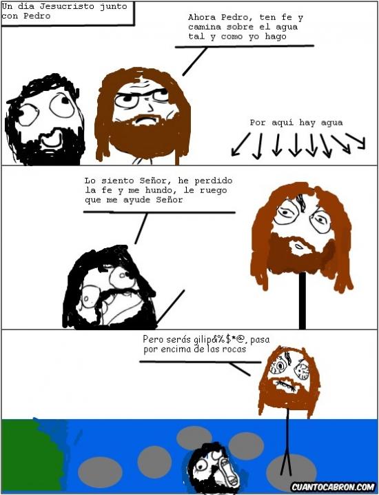 Lol - Jesucristo caminando sobre las aguas