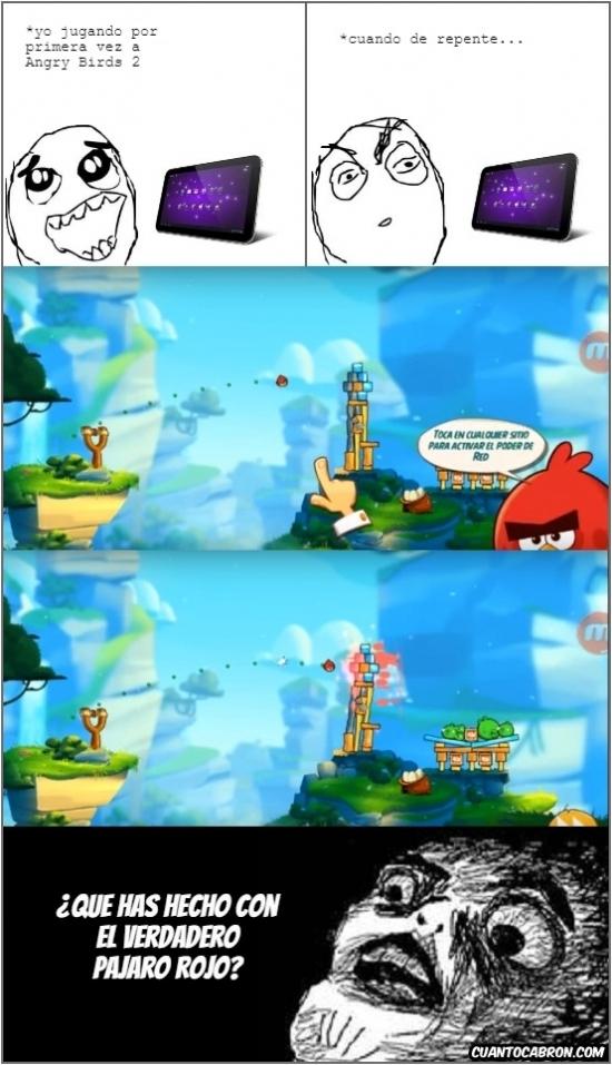 Inglip - Adios al chiste de que el pájaro rojo no hace nada en Angry Birds