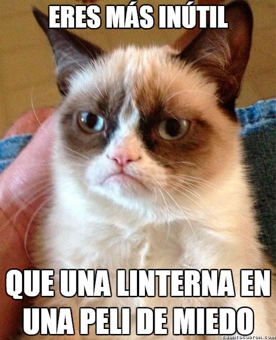 Grumpy_cat - Linternas en las pelis de miedo