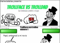 Enlace a La batalla padre e hijo: Trollface vs Trolldad