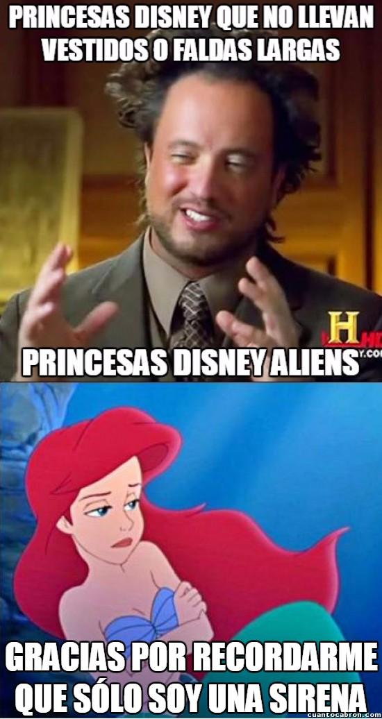 Ancient_aliens - Todas las princesas Disney suelen llevar vestidos o faldas largas excepto una...