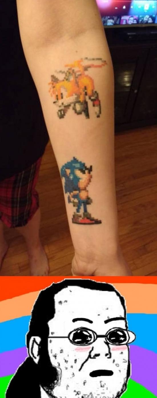Friki - El tatuaje que todo fan de Sega querrá tener