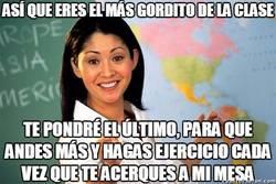 Enlace a Oh, qué buena profesora, preocupándose por la salud de sus alumnos...