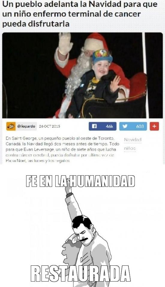 Freddie_mercury - La humanidad aun tiene una esperanza de salvarse con gestos como este
