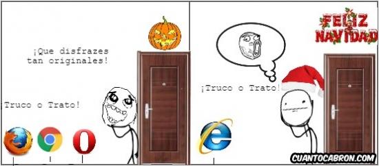 Pokerface - Si en un par de meses Internet Explorer llama a tu puerta será para...