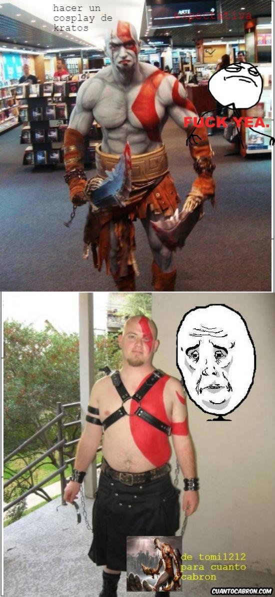 Okay - Hay dos formas de hacer un cosplay de Kratos