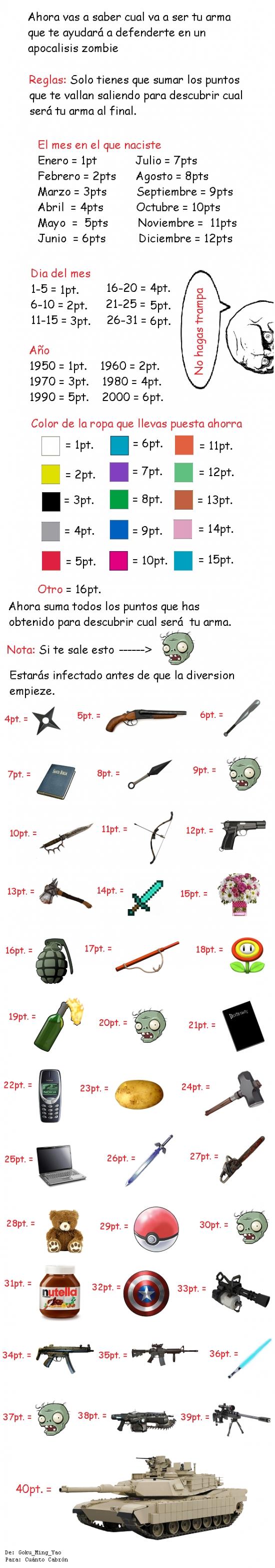 Mix - ¡Tu arma en el apocalipsis zombie!