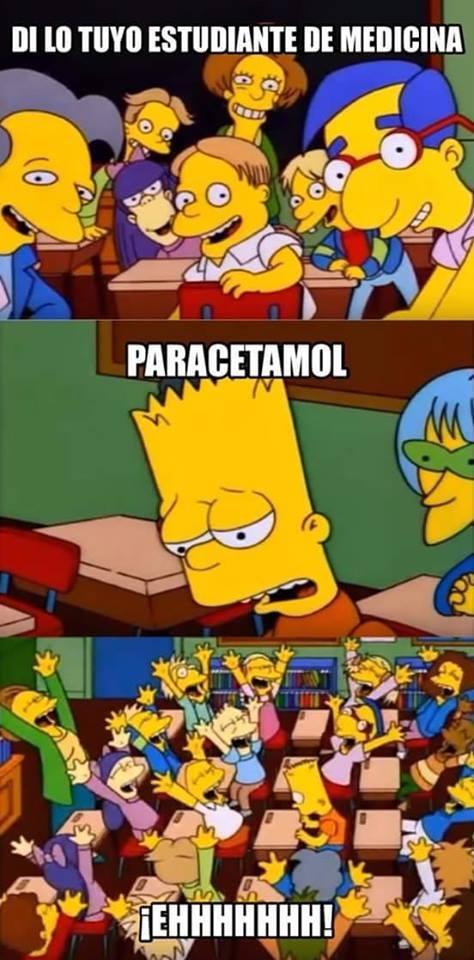 bart,los simpson,medicamento,Medico,paracetamol