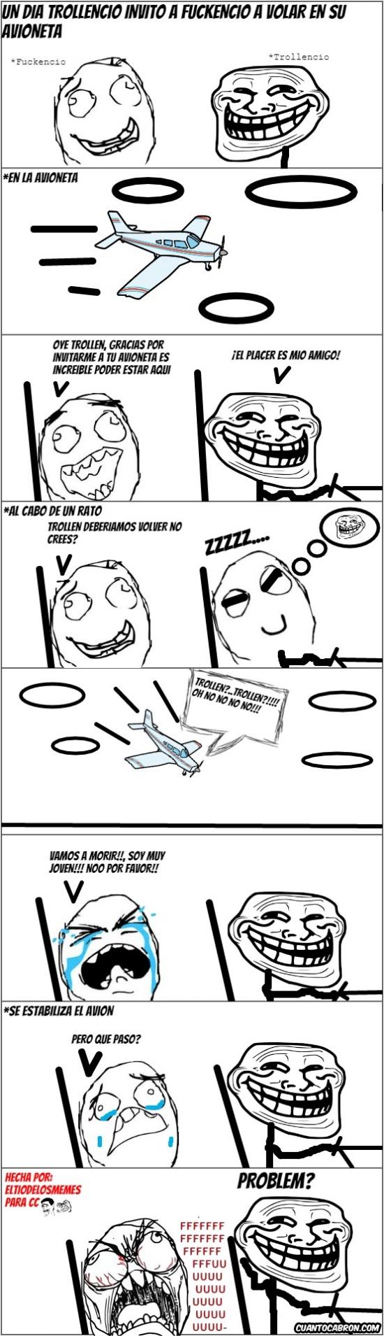 Trollface - Desde entonces no volvió a volar en avioneta