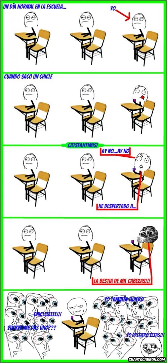 Kidding_me - Nunca, absolutamente NUNCA saques un chicle en la escuela