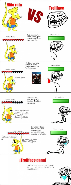 Trollface - La meme-batalla más fácil de ganar para Trollface