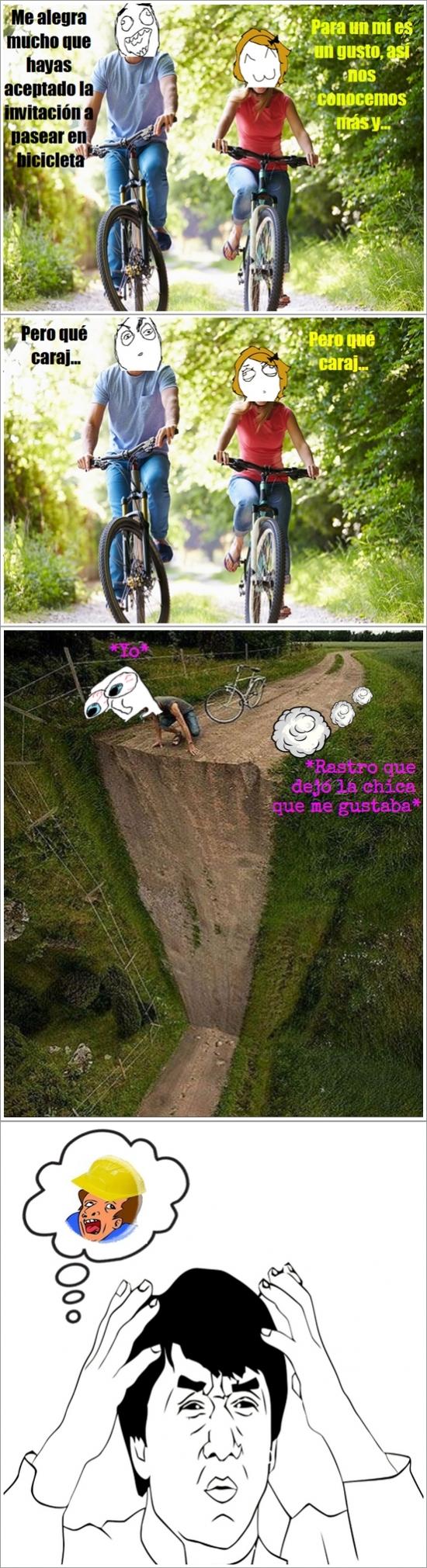 Jackie_chan - Ciclismo extremo, ¡realmente extremo!